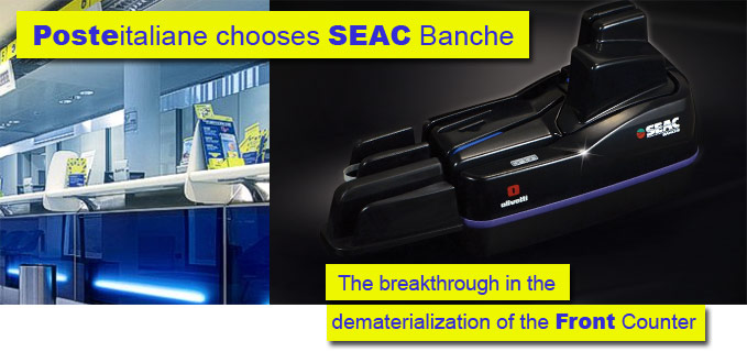 SEAC Banche Spa provided 30.000 readers scanner of post bulletins and checks